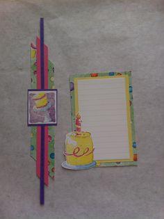 Creative Memories birthday border and journaling box