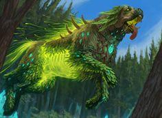 ArtStation - Pako and Haldan, Manuel Castañón Forest Creatures, Mythical Creatures Art, Magical Creatures, Fantasy Wolf, Fantasy Beasts, Monster Concept Art, Fantasy Monster, Creature Concept Art, Creature Design