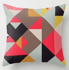Housse de coussin décoratif, Tangram, design abstrait. Housse pour l'intérieur ou l'extérieur.