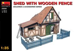 1:35 Shed with Wooden Fence - Modelling | Hobbyland