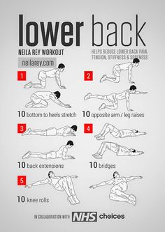 Lower back workout..