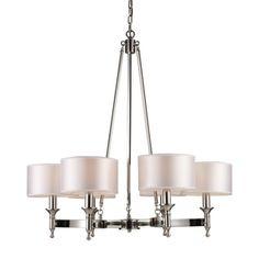 """$550 at Ferguson ELK Lighting E101236 Pembroke Mid Sized Chandelier Chandelier - Polished Nickel 31""""W"""