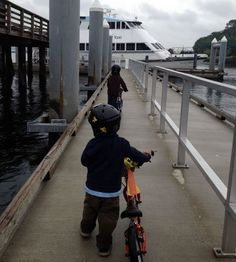 You can bring your bikes aboard the King County Water Taxi.