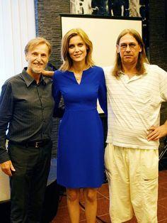 S Igorom Šimegom a Silviou Šuvadovou na Hudobnej glose v Divadelnej kaviarni. Foto: Ivan Levický