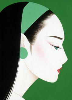 Ichiro Tsuruta - Japanese visual artist, was born in 1954 in the city of Hondo in Kumamoto Prefecture, Ichiro Tsuruta grew up in Kyushu's Amakusa Region, Japan. Kumamoto, Amakusa, Art Asiatique, Gig Poster, Japan Art, Japanese Artists, Chinese Art, Female Art, Vector Art