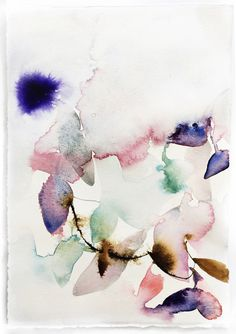 Abstract Watercolor Study : Effervescent by Marta Spendowska, VERYMARTA, Polish-American artist, illustrator and textile designer.