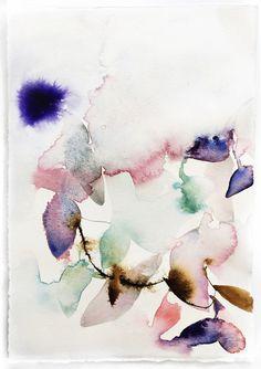 Abstract Watercolor Study : Effervescent by Marta Spendowska, VERYMARTA, Polish-American artist, illustrator and textile designer.