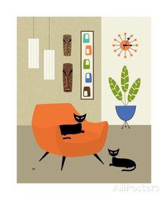 Tikis on the Wall - Fotografiskt tryck av Donna Mibus på AllPosters.se