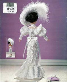 1905 Wedding Gown  Crochet Collector Costume Volume 1 Fashion Doll  Crochet Pattern.