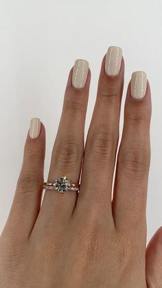 A stunning 6 prong round brilliant engagement ring paired with our signature pave wedding band. Both set in rose gold Round Solitaire Engagement Ring, Beautiful Engagement Rings, Wedding Band Engagement Ring, Pave Wedding Bands, Best Wedding Rings, Ring Verlobung, Gold Ring, Diamond Rings, Solitaire Diamond