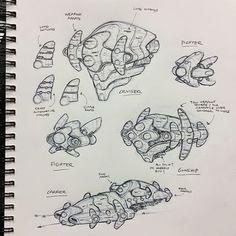 Spaceships concept art by Sean Wang. Spaceship Design, Spaceship Concept, Robot Concept Art, Freelance Illustrator, Freelance Designer, Concept Draw, Jobs, Star Wars Rpg, Fantasy