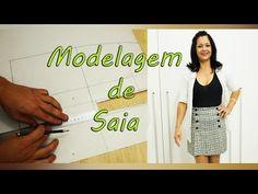 Como fazer molde: SAIA COM PREGA E BOTÕES #VEDA16 - YouTube