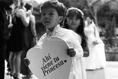 Carteles para anunciar la llegada de la novia