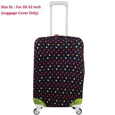 Cute 3D Strawberry Pattern Luggage Protector Travel Luggage Cover Trolley Case Protective Cover Fits 18-32 Inch