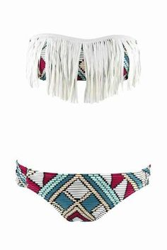 Not really down with fringe bathing suits but this one def one I would reconsider for!