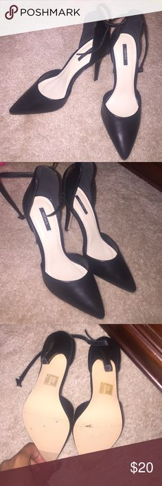 Forever21 pumps Worn once for a wedding, Size stickers still on them, black. Forever 21 Shoes Heels