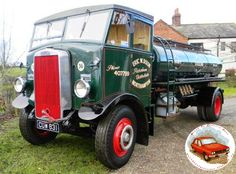Leyland Beaver Petrol Tanker 1936 The origin of truck-building in Leyland can be traced back to two men, James Sumner and Henry Spurrie. Vintage Trucks, Old Trucks, Classic Trucks, Classic Cars, Old Lorries, Cab Over, Commercial Vehicle, Motor Car, Tractors