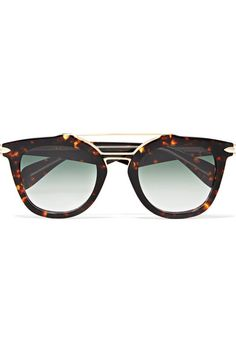 b42702a2b93 rag   bone - Cat-eye tortoiseshell acetate and gold-tone sunglasses