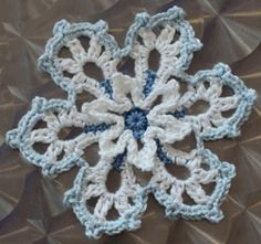 Crocheted Frost Flower or Snowflake Tutorial...a beautiful snowflake flower that you can embellish all kinds of things with...thanks for sharing!