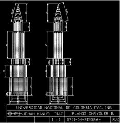 Building chrysler building (dwgAutocad drawing)