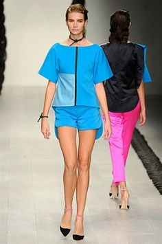 COLOR BLOCKED BLUE AT OSMAN SPRING / SUMMER 2013