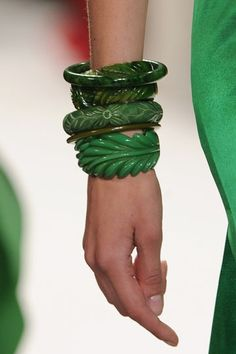 Wear to Stand Out ❤'s these Green Bangles!
