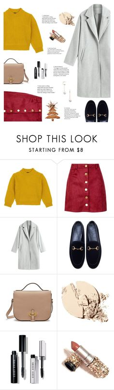 """""""Untitled #102"""" by nvtellan ❤ liked on Polyvore featuring Comme Moi, Boohoo, Gucci, Mulberry, Bobbi Brown Cosmetics and Forever 21"""