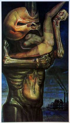 """ernst fuchs- """"The swallow of the doll"""""""