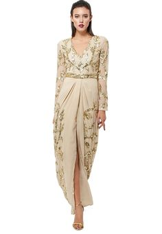 This Taylor embellished dress by Virgos Lounge is perfect for parties and events, with its fine golden detailing and classy cut #Namshi #fashion #musthave