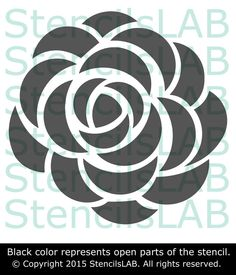 Wall Stencil - Roses Stencil For Wall Decor - Original Flower Stencil – StencilsLab Wall Stencils