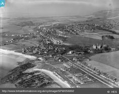 West Kilbride, general view, showing Ardrossan Road and Seamill House.  An obliq...
