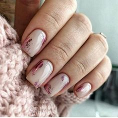 Whoever said nail art requires longer nails has never tried this trendy art on short nails. If you browse online, you'll be bombarded with an array of nail art designs in no time. Cute Nails, Pretty Nails, Milky Nails, Nagellack Design, Manicure E Pedicure, Bridal Nails, Pink Wedding Nails, Wedding Manicure, Nagel Gel