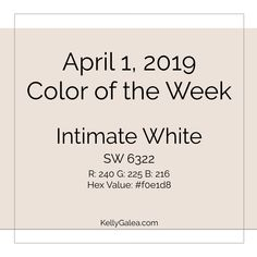 Your Color of the Week and forecast for the week of April 1, 2019. As we Reflect and Reveal, it's helpful to begin with one area of our Kaleidoscopes...