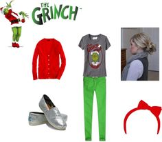 """""""holiday party grinch"""" by lexiwinblad on Polyvore"""
