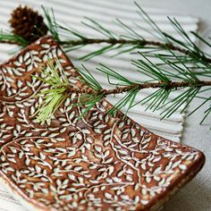 Earthy Vines Handmade ceramic soap dish by kylieparry on Etsy