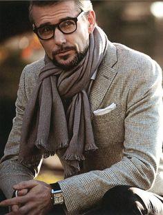 Twice around way to tie your scarf - Men's Fashion Blog - TheUnstitchd.com