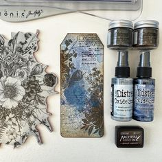 Tim Holtz Stamps, Pocket Envelopes, Art Journal Tutorial, Embossing Techniques, Aqua, Stampers Anonymous, Anna Griffin Cards, Distress Oxide Ink, Handmade Tags