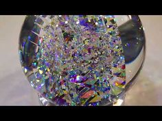 Fantastik Spherix - Glass Sculpture by Jack Storms Jack Storms Glass, Glass Artwork, Mosaic Glass, Christmas Bulbs, Sculptures, Marbles, Crystals, Mosaics, Beautiful Things