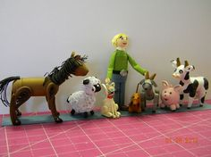 Quilled Farmer & Animals 1-How could you not like these - they are so cute!