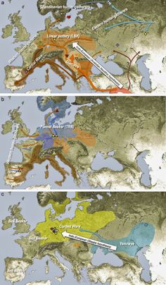 Interactive map of human genetic history revealed global map three models of farming expansion into europe gumiabroncs Gallery