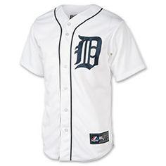 Men's Majestic Detroit Tigers MLB Prince Fielder Replica Jersey