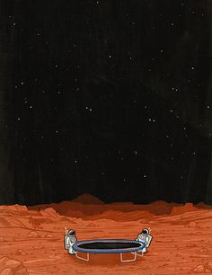 "ronanlynam: ""  Illustration by Ronan Lynam Follow on instagram & tumblr! "" Escape velocity can be a bitch."