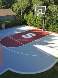Aerial photo of stanford half-court - Basketball Goal Photo Album