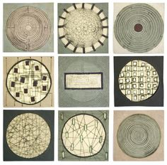 patternprints journal: GEOMETRIC PATTERNS IN REFINED CERAMIC WALL PIECES BY CLARE CROUCHMAN