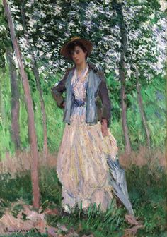 Claude Monet - The Stroller (Suzanne Hoschedé, later Mrs. Theodore Earl Butler, 1868–1899)