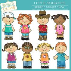 Little Shorties kids clip art