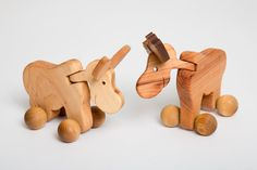 """Carved Wood Toy / Rolling Massager Donkey."" Courtesy: Tomas Kulita, Vilna (Lituania)."