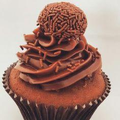Cupcake de brigadeiro