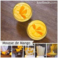 Receta de Mousse de Mango Fresco