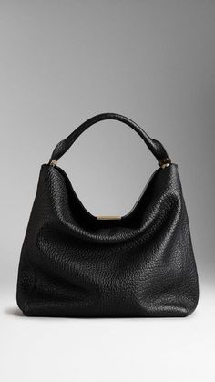 Shop for Medium Signature Grain Leather Hobo Bag by Burberry at ShopStyle. Burberry Handbags, Hobo Handbags, Purses And Handbags, Leather Handbags, Hobo Bags, Burberry Bags, Hobo Purses, Leather Bags, Burberry 2015